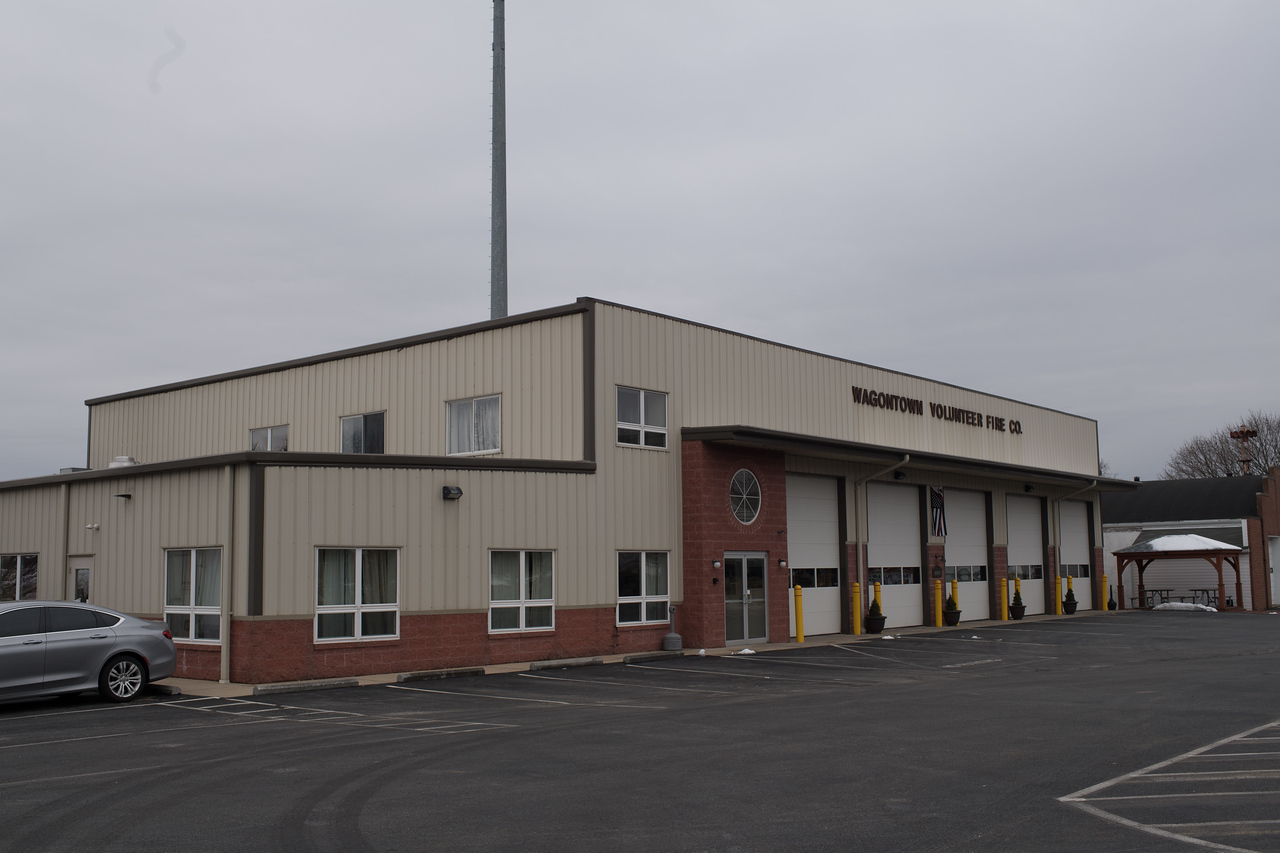 Front of new Firehouse and Banquet hall @ 412 W. Kings Hwy