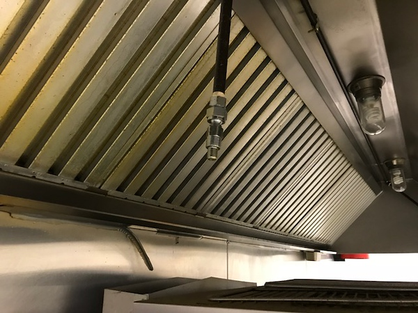 UL 300 West Chemical System in Kitchen above range & deep fat fryer-412 W. Kings Hwy