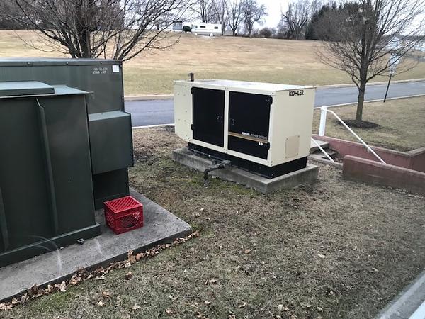 Outside Generator @ Firestation @ 412 W. Kings Hwy