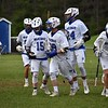 GEOFF SMITH — THE BERKSHIRE EAGLE<br /> The Wahconah lacrosse team celebrates after a goal was scored during its Central/Western Massachusetts Division III tournament game against Belchertown on Tuesday in Dalton. Wahconah won the game 15-5.