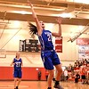 GEOFF SMITH — THE BERKSHIRE EAGLE<br /> Wahconah freshman Maria Gamberoni goes up for a layup during Thursday's game against Hoosac Valley in the Western Mass. Division III quarterfinals. Wahconah won 42-33.