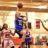 GEOFF SMITH — THE BERKSHIRE EAGLE<br /> Wahconah freshman Maria Gamberoni goes up for a layup against Hoosac Valley during Thursday's Western Mass. Division III quarterfinal. The Warriors won 42-33.