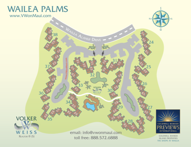 This is the horizontal layout of my Wailea Palms Pat Map. Like all Wailea Real Estate Plat Maps, the Wailea Palms Plat Map was created to easily locate any specific unit of these Wailea Condos. It is available for free as pdf download from   http://www.vwonmaui.com/index.php/plat_maps/plat_maps_wailea/condo/wailea-palms/