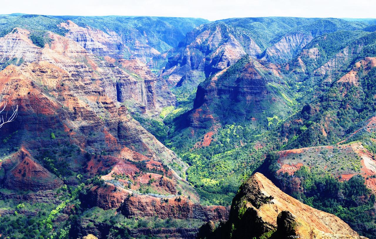 """Waimea Canyon, Kauai, """"Grand Canyon of Hawaii"""""""