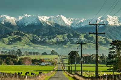 Snowy Tararua Ranges in The Wairarapa NZ