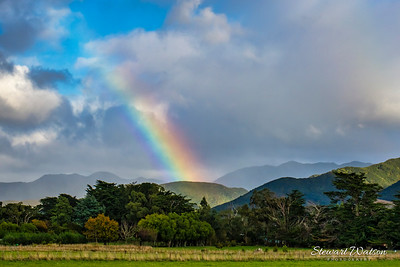 Good weather on both sides of the Rimutaka's yesterday but rainbows and rain in the hills