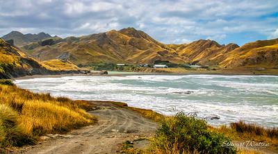 The wild and rugged stormy coast at Tora Wairarapa