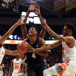 Doral Moore looks for shot after rebound