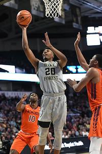 Terrence Thompson shot under basket