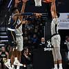 Olivier Sarr blocks pass under basket