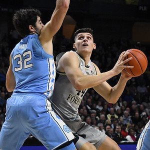 Dinso Mitoglou looks for shot in lane