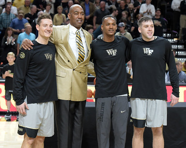 Coach Manning and Deacon seniors