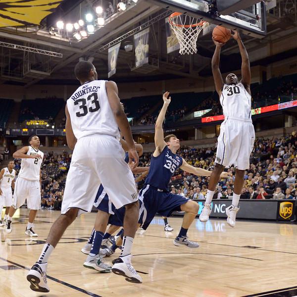 Travis McKie shot off rebound