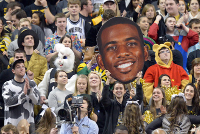 Student with Chris Paul head