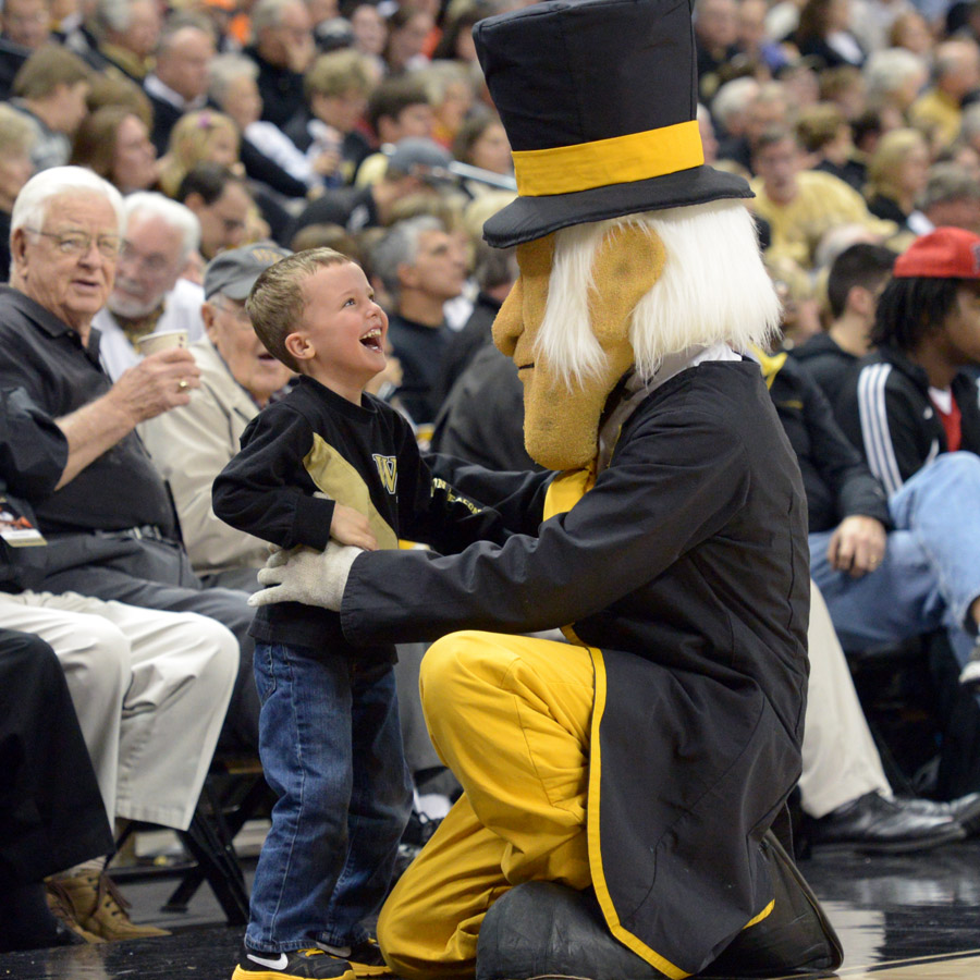 Deacon and young fan