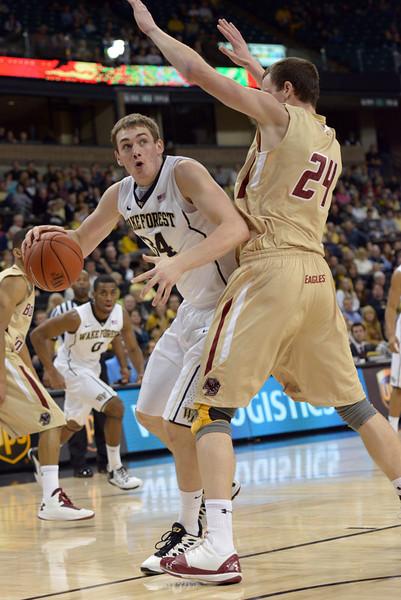 Tyler Cavanaugh looks for shot
