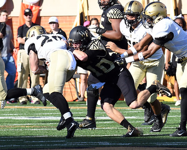 John Wolford tackles R England after interception