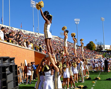 Cheerleaders and crowd