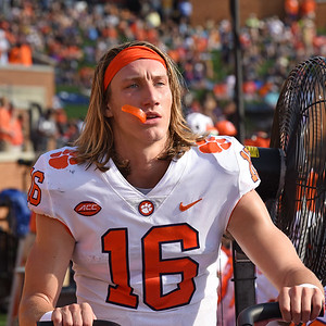 Trevor Lawrence on the sideline