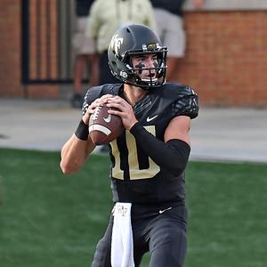 Sam Hartman looks to pass