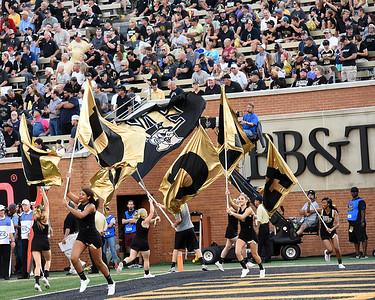 Deacon cheerleaders flag celebrate touchdown