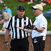 Coach Clawson chats with ref