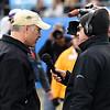 Dave Goren interviews Coach Clawson at halftime