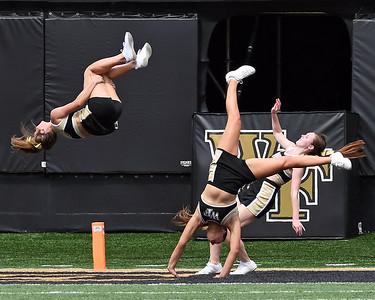 Deacon cheerleaders celebrate TD