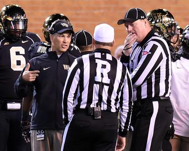 Coach Clawson talks to refs