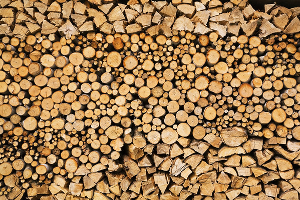 -- Image by © Aram Radomski/Berlintapete Canada --- Close-Up Of Stacked Firewwod Logs; Quebec Canada --- Image by © Perry Mastrovito/Design Pics/Corbis