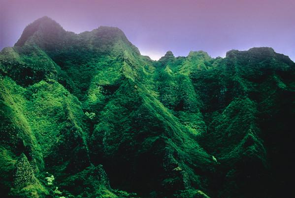 Kauai, Hawaii, USA --- Tropical mountainous area at Kauai, Hawaii. Panorama --- Image by © Michael Weber/Corbis