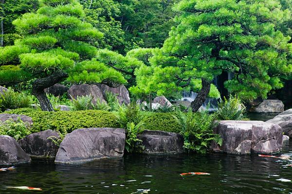 Himeji, Japan --- Koi Pond in Kokoen Gardens --- Image by © moodboard/Corbis