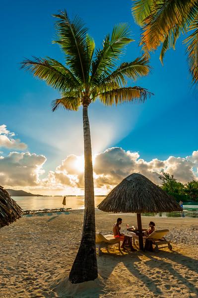 16 Jul 2014, Bora Bora, French Polynesia --- Beach, Four Seasons Resort Bora Bora, Motu Tehotu, Bora Bora, French Polynesia. --- Image by © Blaine Harrington III/Corbis