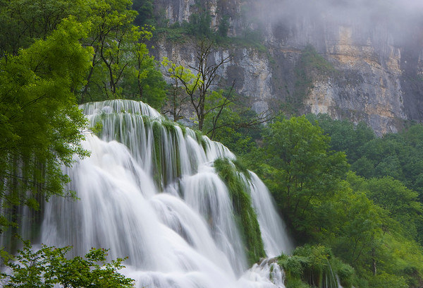 France --- Waterfall in canyon --- Image by © Roland Gerth/Corbis