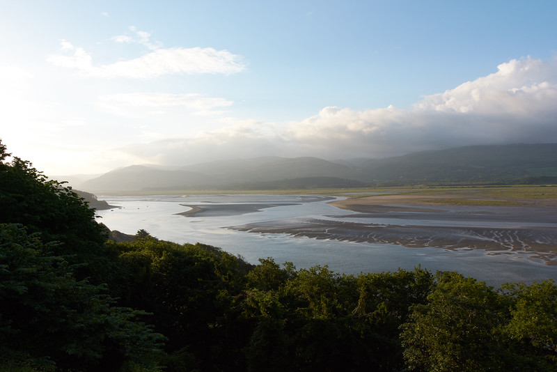 View across the Dyfi estuary from Plas Panteidal