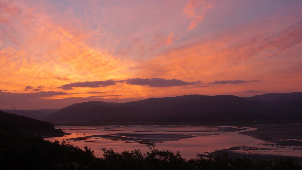 Sunrise across the Dyfi estuary