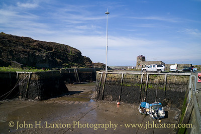 Amlwch Harbour, Anglesey, Wales - April 28, 2018