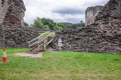 Skenfrith Castle, Monmouthshire, Wales - July 26, 2016
