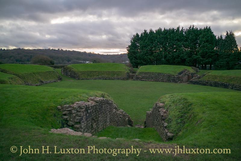 Caerleon Roman Fortress Amphitheatre, Caerleon, Newport, Wales - December 30, 2018