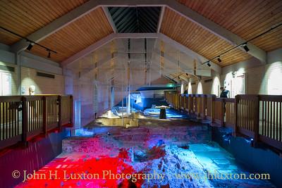 Caerleon Roman Fortress Baths, Caerleon, Newport, Wales - December 30, 2018