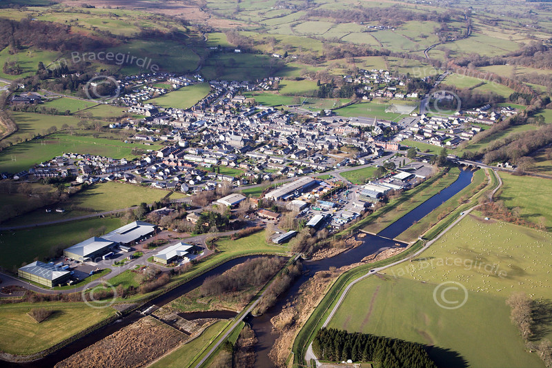 Bala in North Wales from the air.