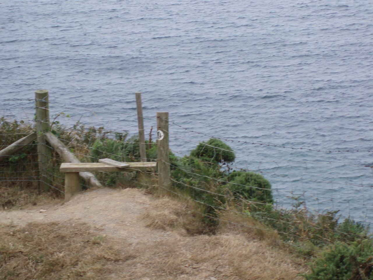 Coast path erosion