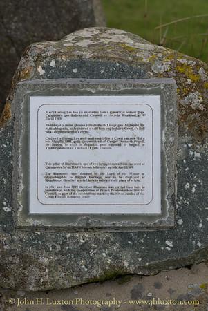 Bluestone Standing Stone, Mynachlog Ddu, Preseli Hills, Pembrokeshire. Wales - August 24, 2018