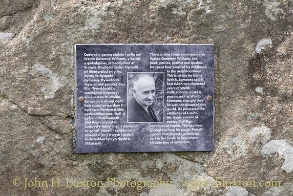 Carreg Waldo - Goronwy Waldo Williams Memorial, Pembrokeshire , Wales - August 24, 2018