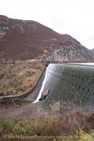 Caban Coch Dam, Elan Valley, Powys, Wales - April 01, 2018