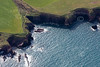 The Pembrokeshire Coast in South Wales from the air.