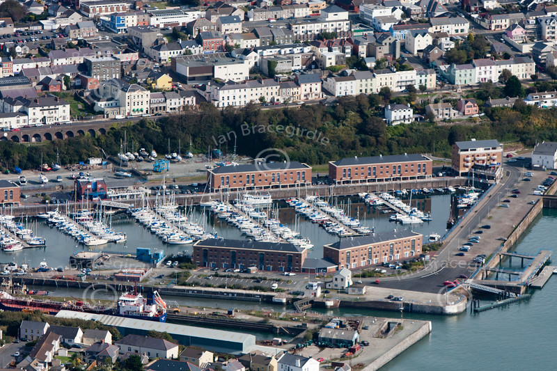 Milford Haven harbour area from the air.