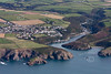 Solva in South Wales from the air.