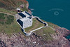 West Blockhouse Fort in South Wales from the air.