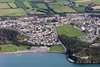 Gelliswick Beach in Milford Haven from the air.